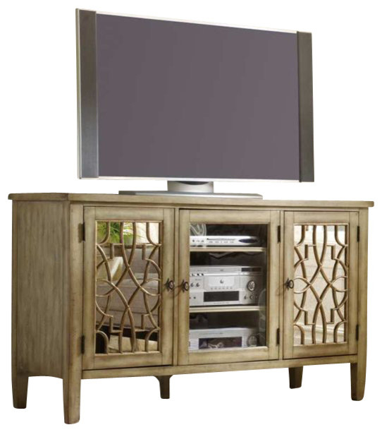 Hooker Furniture Sanctuary 60 Inch Entertainment Console in Surf-Visage transitional-media-storage