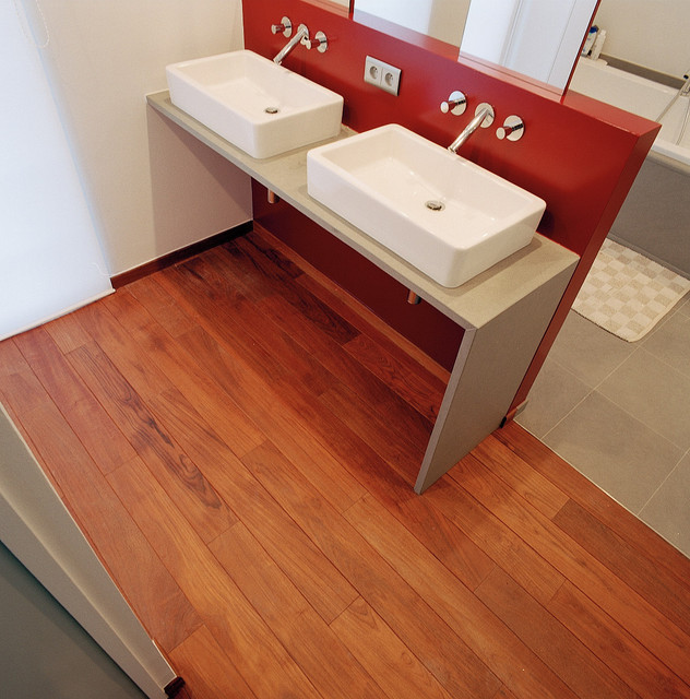 Teak floor contemporary-wood-flooring