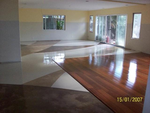 Colored Epoxy Flooring Interior San Diego By Elite