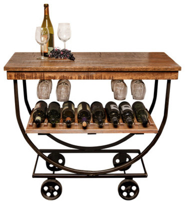 Vintage Wine Cart - Rustic - Bar Carts - by Homespun Design