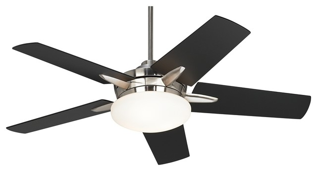 Contemporary Casa Endeavor Black Cherry Teak Blades Ceiling Fan Fans