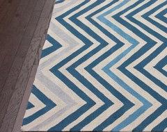 nuLOOM HJHK25A Chevron Area Rug - Blue modern-rugs