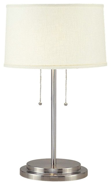 contemporary cosmo 2 light stainless steel table lamp. Black Bedroom Furniture Sets. Home Design Ideas