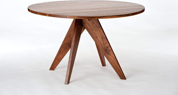 Round Walnut Dining Table By Stylo Design contemporary dining tables