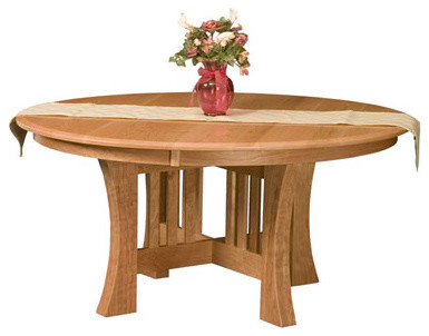 Round Arts and Crafts Table traditional-dining-tables