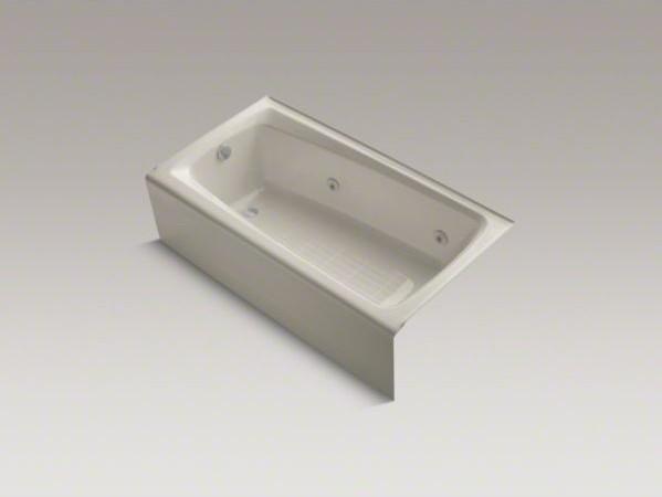 "KOHLER Mendota(R) 60"" x 32"" alcove whirlpool bath with integral apron, heater, l contemporary-bathroom-accessories"