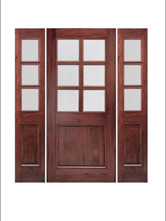 Walnut Entry Door Model # A76G -