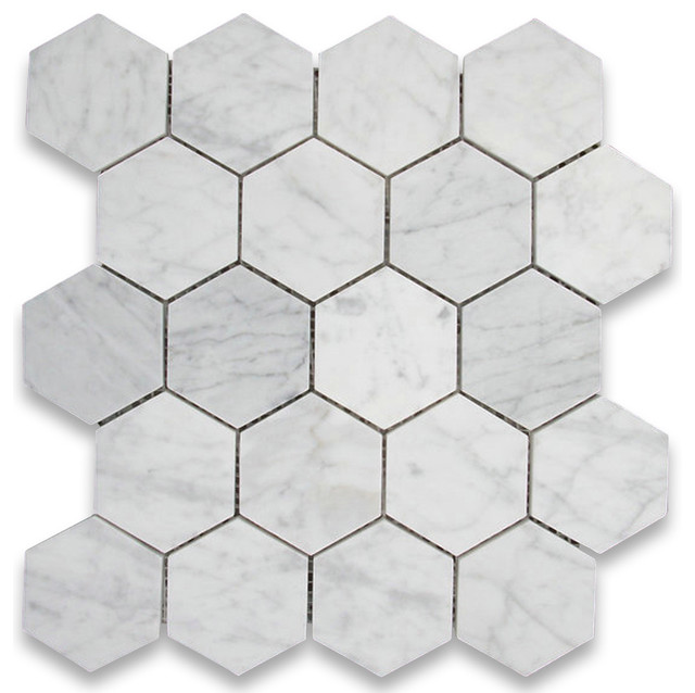 White Hexagon Floor Tile saveemail All Products Floors Windows Doors Floors Floor Tiles