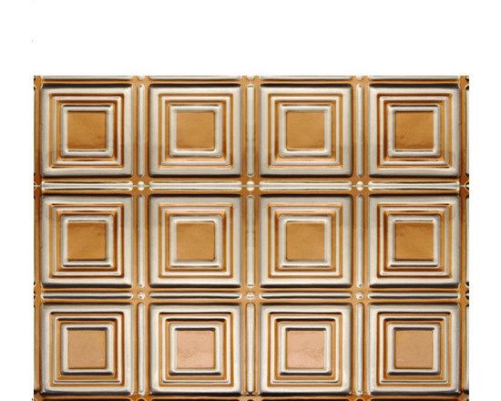 0601 Aluminum Backsplash Tile - Antique Copper & Clear - Real Metal Backsplashes.