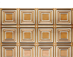 0601 Aluminum Backsplash Tile - Antique Copper & Clear wallpaper