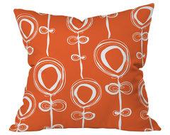 Rachael Taylor Contemporary Orange Throw Pillow, 20x20x6 contemporary-decorative-pillows