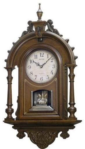 WSM Elizabeth II Musical Clock Alder contemporary-clocks