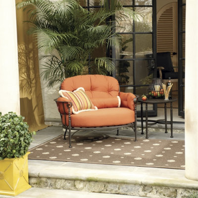 Corsica Chair with Self Piped Cushion transitional-outdoor-lounge-chairs