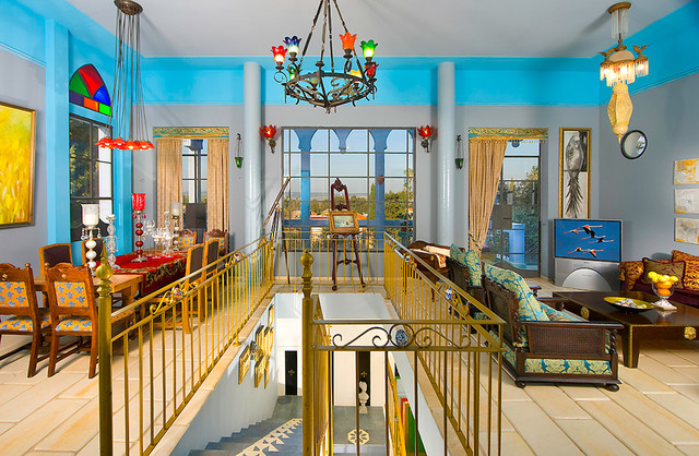 living room mediterranean-rendering