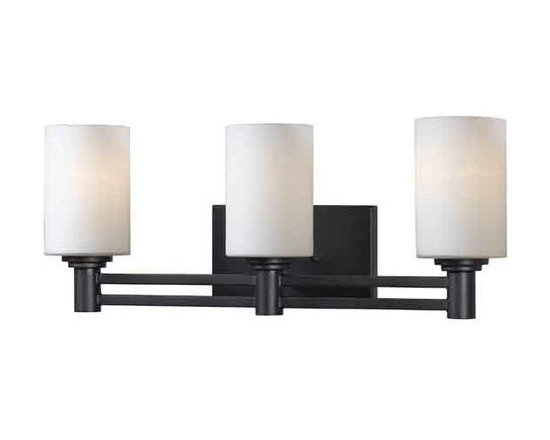 Kenroy Home - Kenroy Home 91933 3 Light Up Lighting Bathroom Fixture with Ceramic Sockets from - 3 Light Up Lighting Bathroom Fixture with Ceramic Sockets from the Slender CollectionGraceful and linear, Slender's centered structure and parallel motif make a substantial design statement.Features: