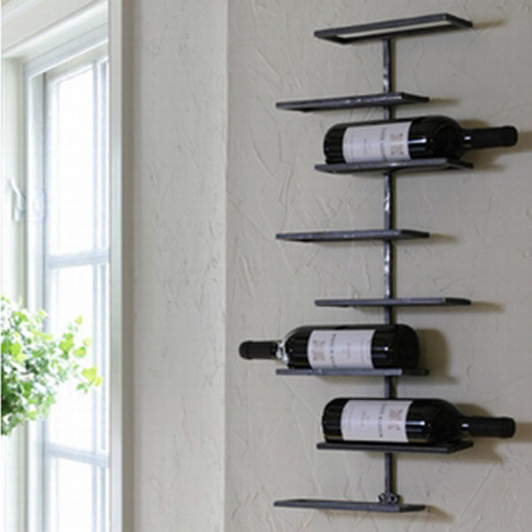 Tribeca 8 Bottle Wall Wine Rack Contemporary Wine