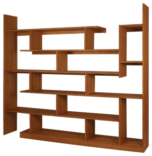 Bamboo Stagger Major Amber Contemporary Bookcases