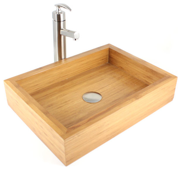 Irenic - Bamboo Countertop Bathroom Lavatory Vessel Sink ...