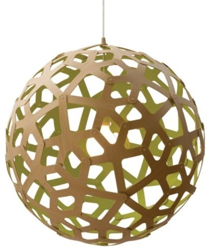 Coral Painted Pendant by David Trubridge Design contemporary-pendant-lighting