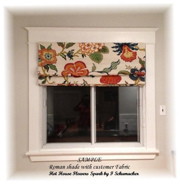 Custom Window Treatment Traditional Roman Shades