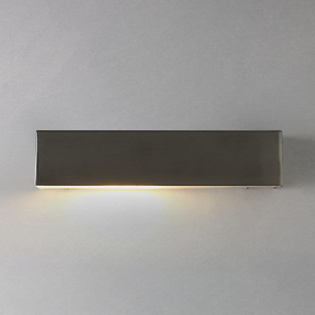 Nordlux Square Outdoor Wall Light, Stainless Steel - Contemporary - Outdoor Wall Lights And ...