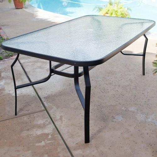 terrace living avalon captured glass patio dining table