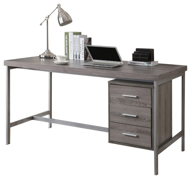 Monarch Specialties 7345 Office Desk in Dark Taupe ...