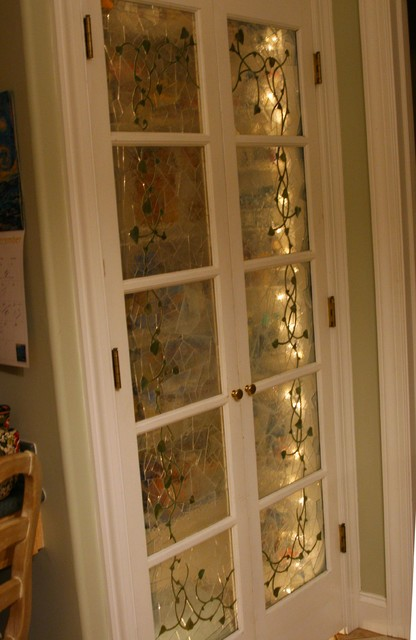 Stained glass mosaic pantry doors - Traditional - other metro - by ...