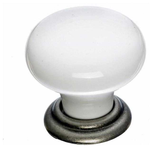 White Cabinet Knobs - Traditional - Cabinet And Drawer Knobs - by Simply Knobs And Pulls