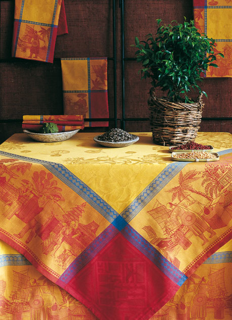 Chinese Market Table Linens tablecloths