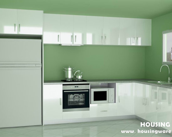 kitchen cabinet 008 - design free, customized, top quality, with bench top and top stainless steel sink