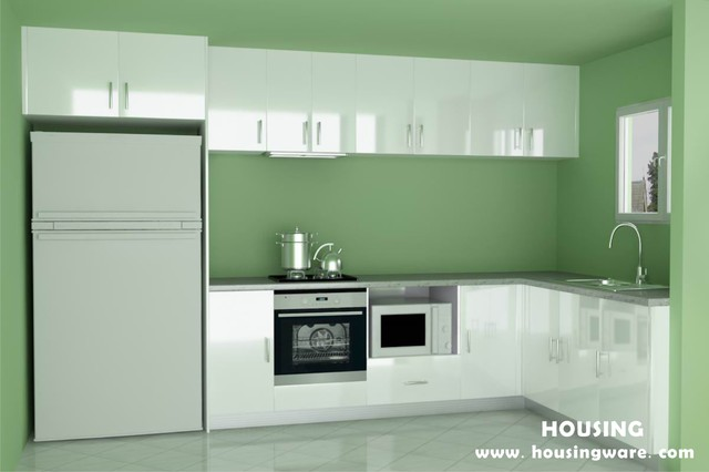 Smart lacquer high gloss MDF Kitchen cabinet modern