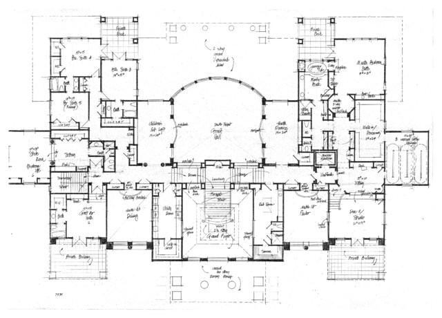 Castles Mansions Palaces Chateaux Villa Manor Concept Designs traditional-floor-plan