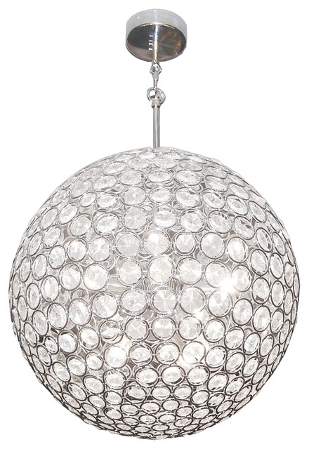 Checkolite International Crystal Globe Large Pendant