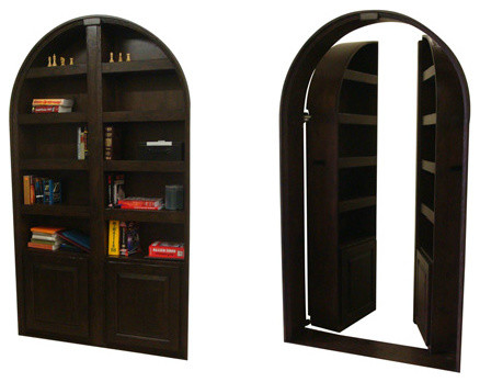 Hidden Passageway Custom Bookcase Door eclectic-interior-doors