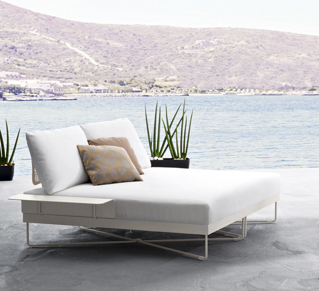Coral Reef - Double Chaise Longue - Roberti - Italy contemporary-outdoor-chaise-lounges