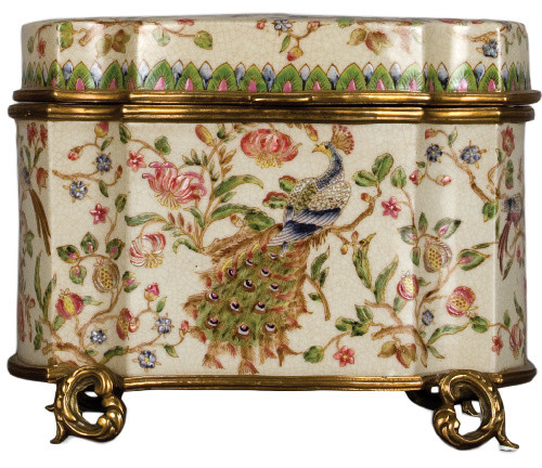 Porcelain box with bronze ormolu traditional-decorative-boxes