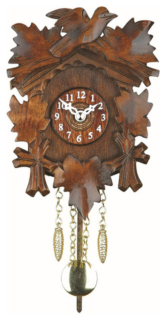 Black forest quartz pendulum clock and cuckoo chime walnut traditional cuckoo clocks by - Cuckoo pendulum wall clock ...