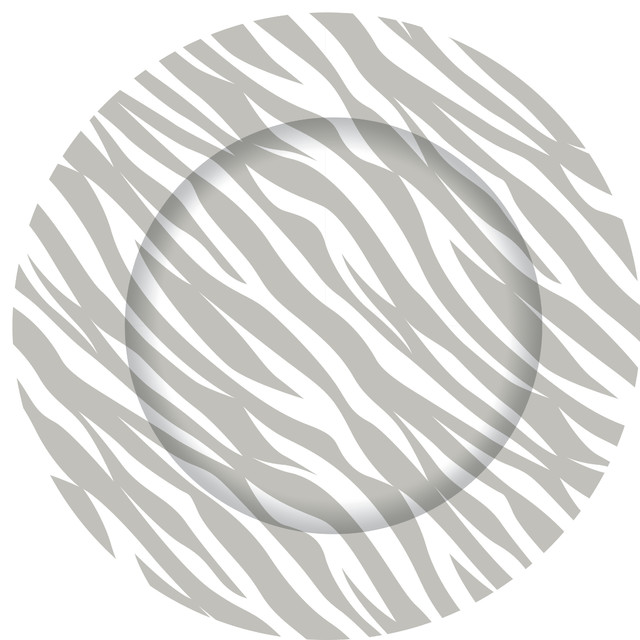 Grey Zebra Charger Plate