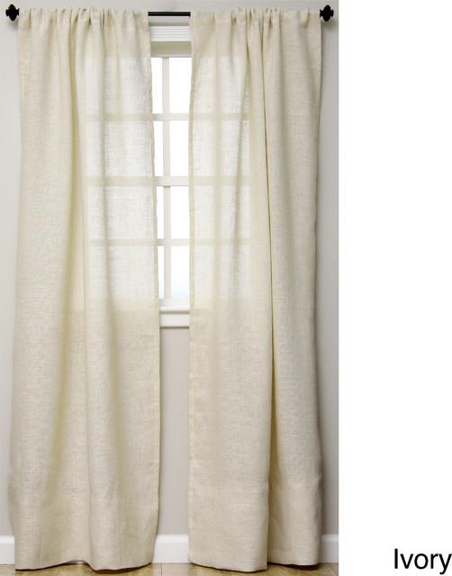 Burlap Open Weave Sheer Curtains