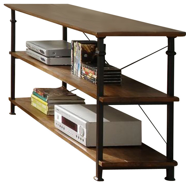 Homelegance Factory Rectangular Sofa Table with Wrought Iron Base traditional-console-tables