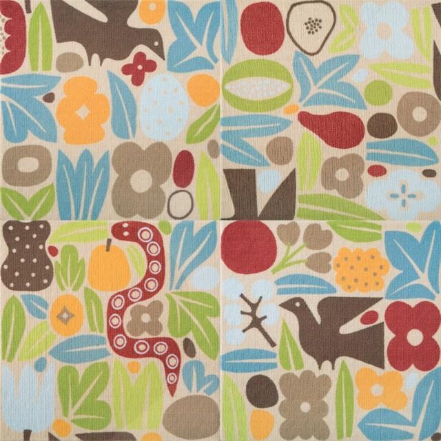 Buy Girard Inspired Flora Leaf Printed Carpet Tile