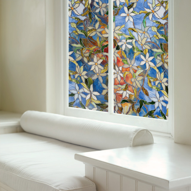 Decorative Window Film In Clematis Modern Window Film
