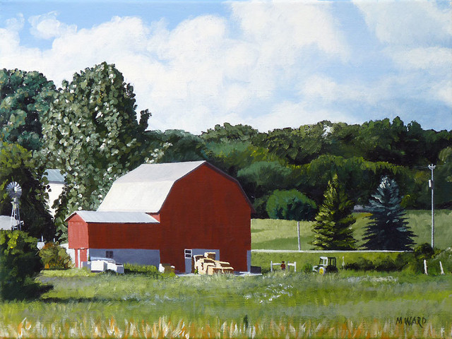 'Michigan Barn' Framed Painting farmhouse-paintings