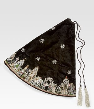 Contemporary Christmas Tree Skirts by Saks Fifth Avenue