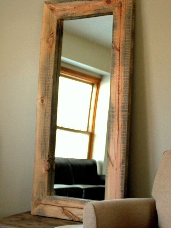 Reclaimed Wood Mirror - Reclaimed Snow Fence Mirror (Hemmingway Collection)