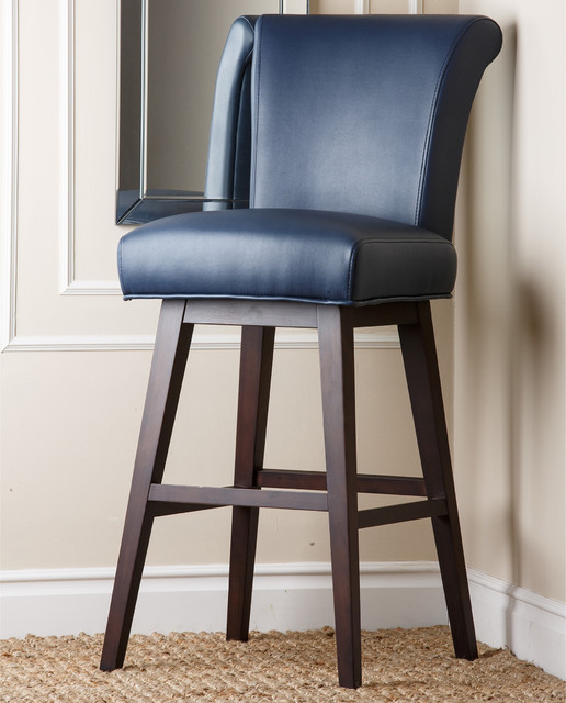 Kent Royal Blue Bonded Leather Bar Stool Contemporary