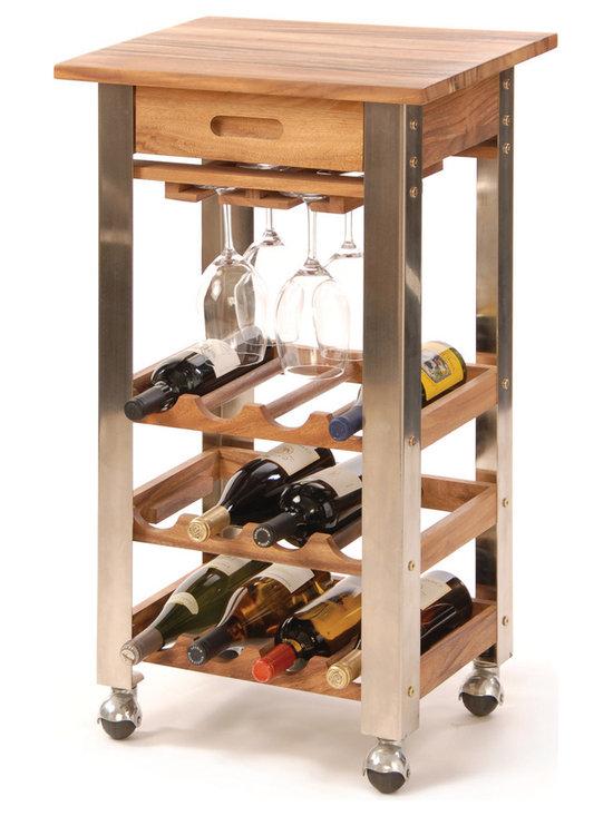 Wine Rack Kitchen Trolley -
