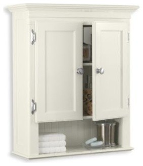 Fairmont Cream Wall Cabinet - Contemporary - Storage Units And Cabinets - by Bed Bath & Beyond
