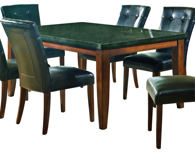 Steve Silver Granite Bello Granite Top 70x42 Dining Table transitional-dining-tables